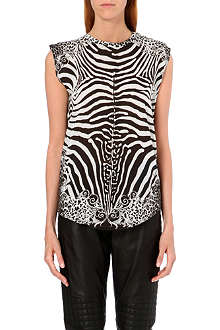 BALMAIN Animal-print jersey top