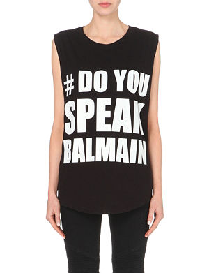 BALMAIN Do You Speak Balmain t-shirt