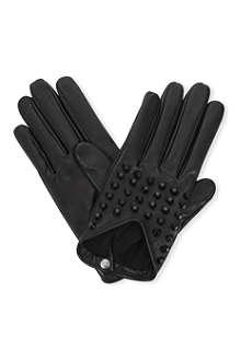 CAUSSE GANTIER Studded leather gloves