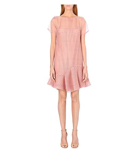 ELIE SAAB Peplum-hem silk-chiffon dress (Blush