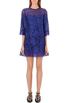 ELIE SAAB Floral lace embroidered dress