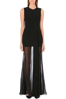 ELIE SAAB Semi-sheer contrast gown