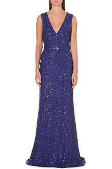 ELIE SAAB Floor-length sequin embellished gown