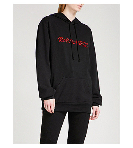 RODARTE Radarte jersey hoody (Black/red