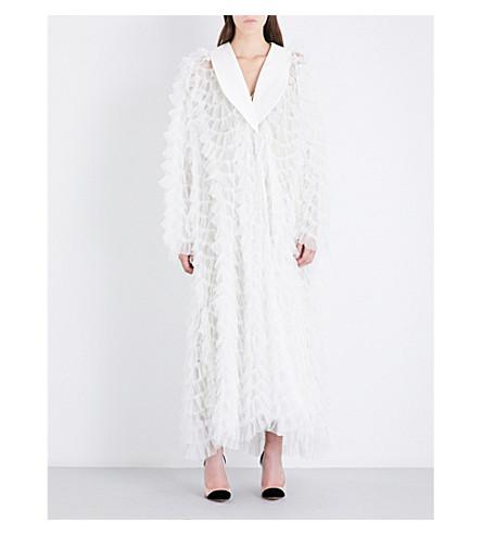 ALESSANDRA RICH Ruffled tulle dress (White