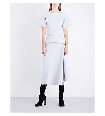 MATICEVSKI Meta woven dress (Dove+grey