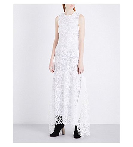 MATICEVSKI Emergence embroidered dress (White+squiggle