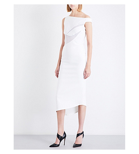 MATICEVSKI In Flight asymmetric stretch-crepe midi dress (White