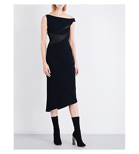 MATICEVSKI In Flight asymmetric stretch-crepe midi dress (Black