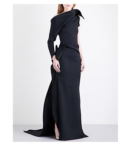 MATICEVSKI Mysterious cotton-blend gown (Black