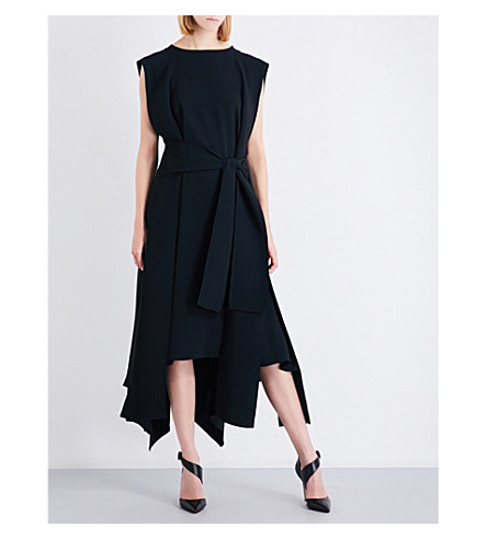 MATICEVSKI Aerial crepe midi dress (Black