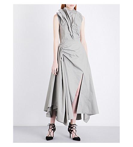 MATICEVSKI Animalla cotton-poplin dress (Khaki+cotton