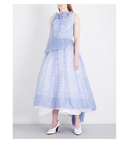 MATICEVSKI Glacial fit-and-flare silk-organza dress (Powder+blue