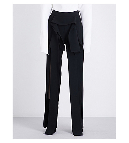 MATICEVSKI Glass Winged high-rise woven trousers (Black