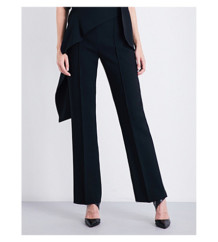 MATICEVSKI Exalt high-waisted straight crepe trousers (Black