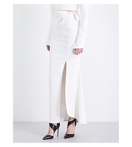 MATICEVSKI Elation crepe maxi skirt (White