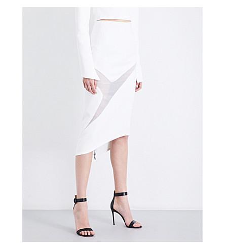 MATICEVSKI Protection crepe pencil skirt (White