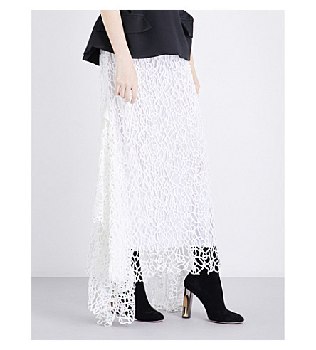 MATICEVSKI Daintree high-rise embroidered skirt (White+squiggle