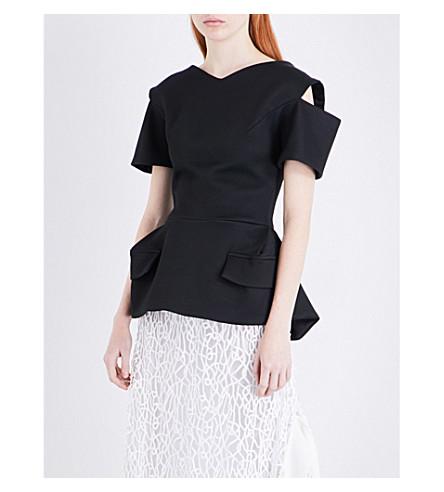 MATICEVSKI Prophetic cotton-blend top (Black