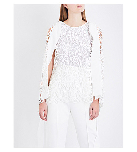 MATICEVSKI Calypso embroidered top (White+squiggle
