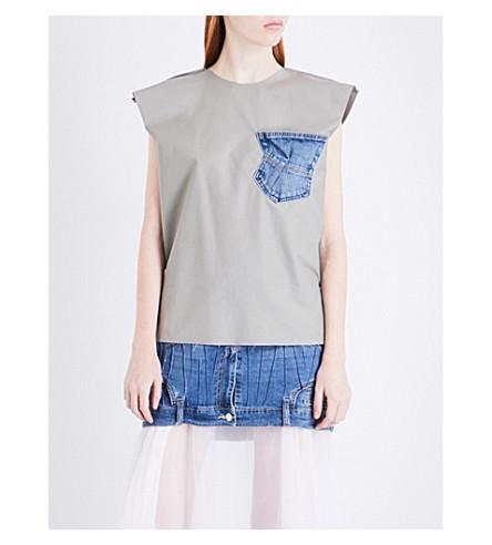 MATICEVSKI Castaway cotton top (Khaki+cotton