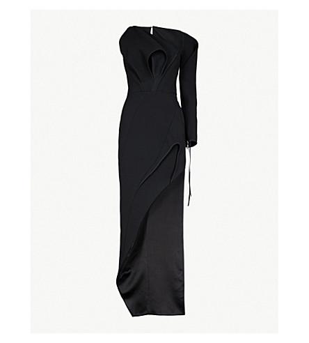 MATICEVSKI Disclaimer one-shoulder woven dress (Black