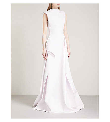 MATICEVSKI Opening Night fit-and-flare woven gown (Lilac