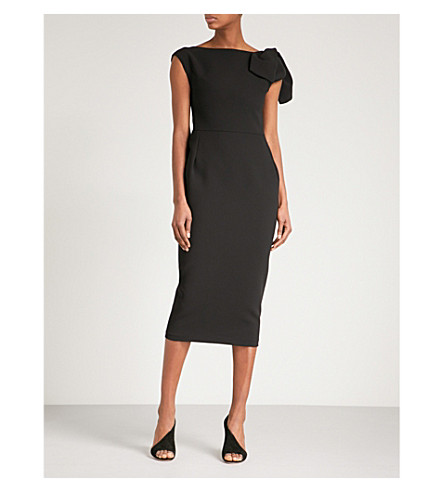 MATICEVSKI Nominated sleeveless crepe midi dress (Black