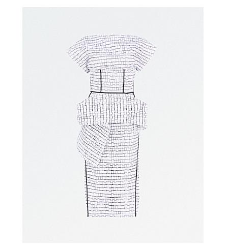 MATICEVSKI Precedent embroidered silk dress (Chalk