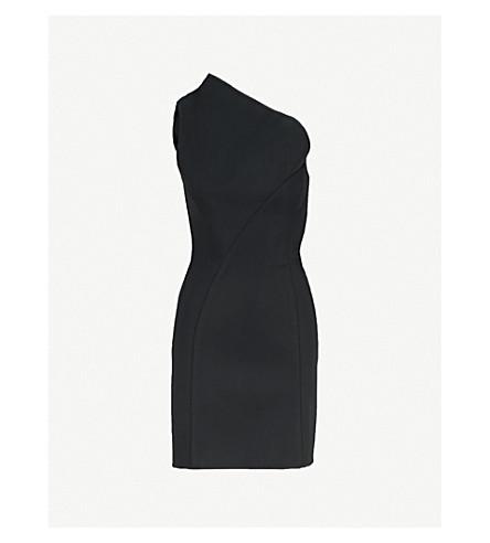 MATICEVSKI Speculation one-shoulder stretch-crepe mini dress (Black