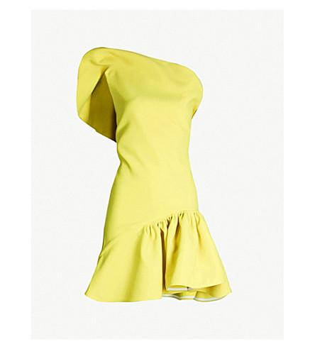 MATICEVSKI Enfanta ruffled crepe mini dress (Chartreuse yellow