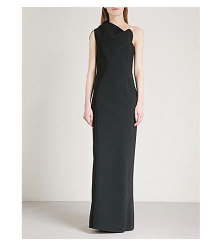 MATICEVSKI Diana one-shoulder stretch-crepe gown (Black