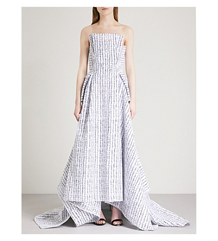 MATICEVSKI Immortal embroidered woven gown (Chalk