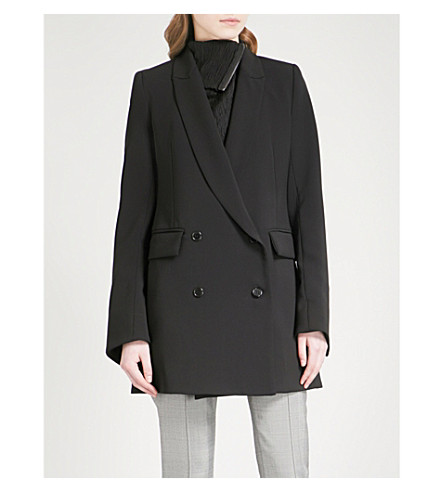 MATICEVSKI Counterpart double-breasted woven blazer (Black
