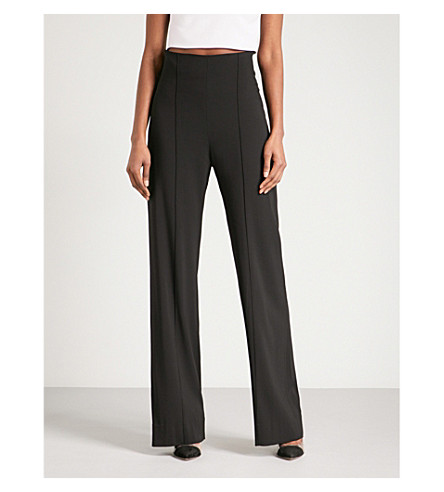 MATICEVSKI Capability straight wide high-rise woven trousers (Black