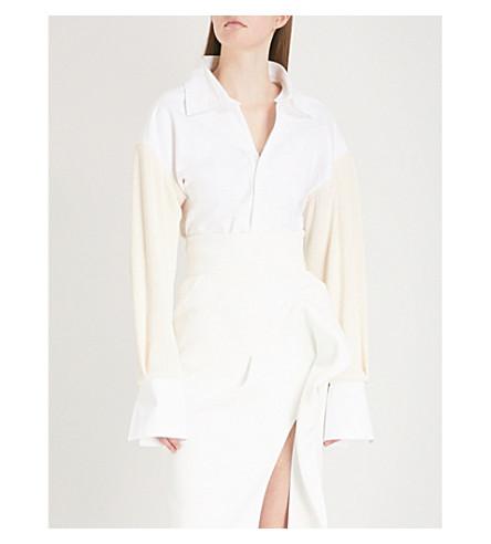 MATICEVSKI Opportune cotton-blend shirt (White