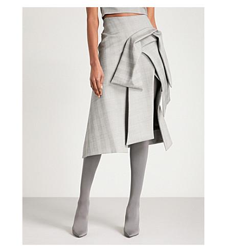 MATICEVSKI Panel checked woven skirt (Check