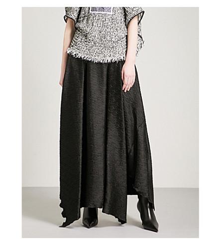 MATICEVSKI Criinkle woven maxi skirt (Black+crinkle