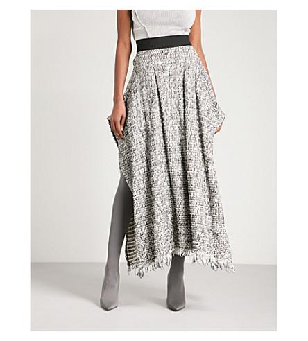 MATICEVSKI Side-split tweed maxi skirt (Tweed
