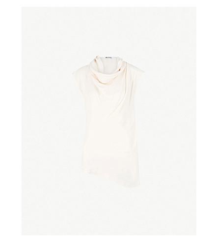 MATICEVSKI Heart cowl-neck satin top (Pale pink