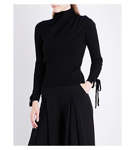 ELIE SAAB Turtleneck wool-blend sweater (Black