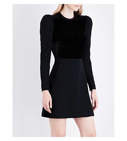 ELIE SAAB Juliet velvet and crepe dress (Black