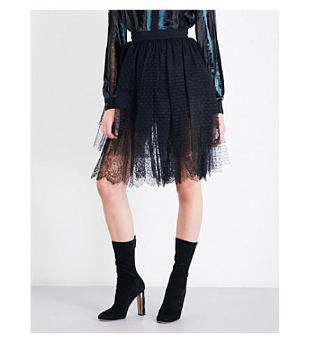 ELIE SAAB Tiered tulle skirt (Black