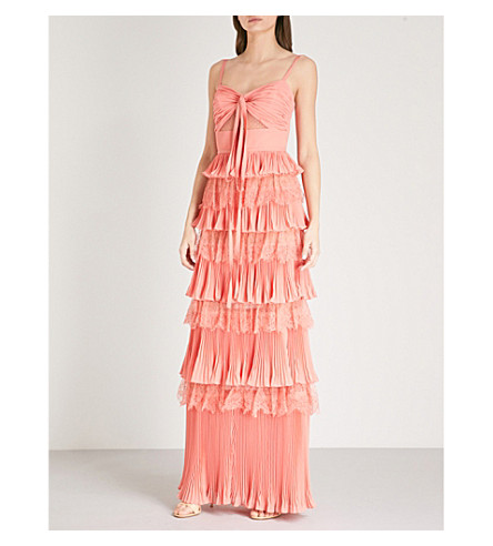 ELIE SAAB Tiered lace gown (Sunset