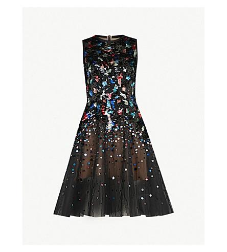 ELIE SAAB Sequin-embellished sleeveless mini dress (Multicolour