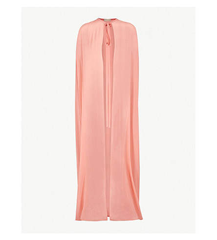 ELIE SAAB Semi-sheer silk cape (Sunset