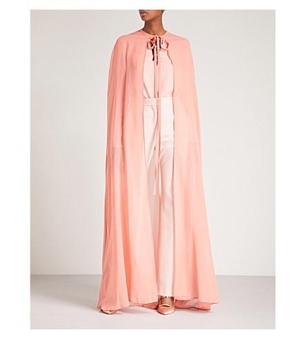 ELIE SAAB Semi-sheer silk cape (Sunset