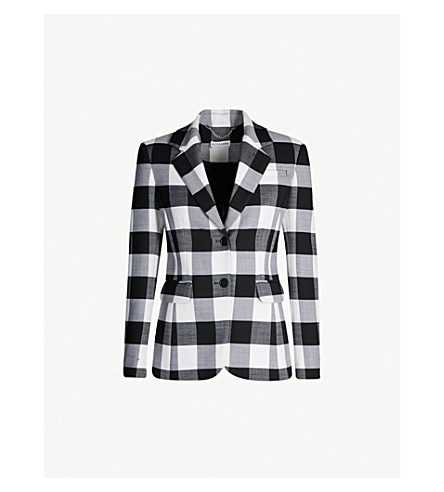 ALTUZARRA Fenice checked wool jacket (Black white