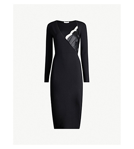 ALTUZARRA Gianni lace-trimmed knitted dress (Black