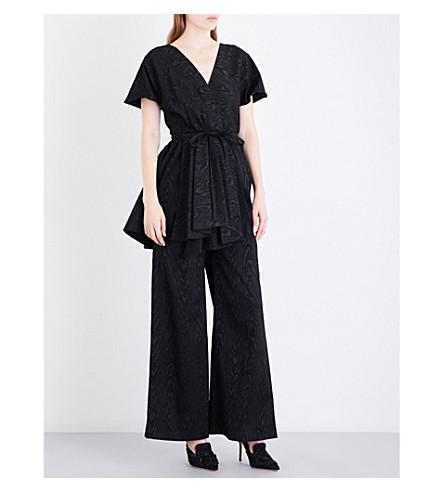 ROSIE ASSOULIN Swept Away cloqué jumpsuit (Black